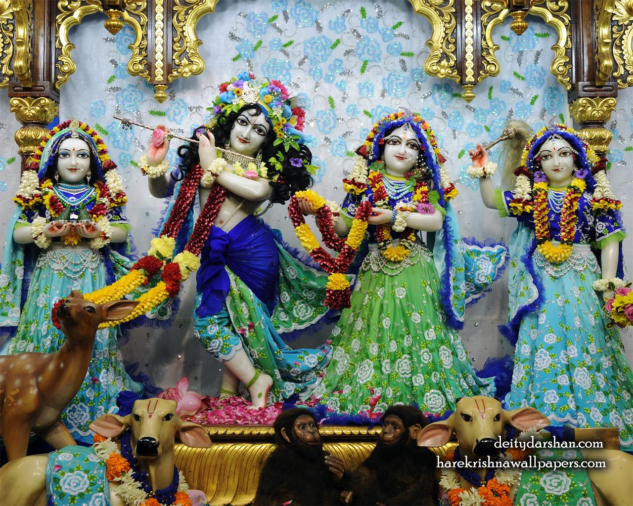 Sri Sri Radha Gopinath Lalita Vishakha Wallpaper (064) Size 1280x1024 Download