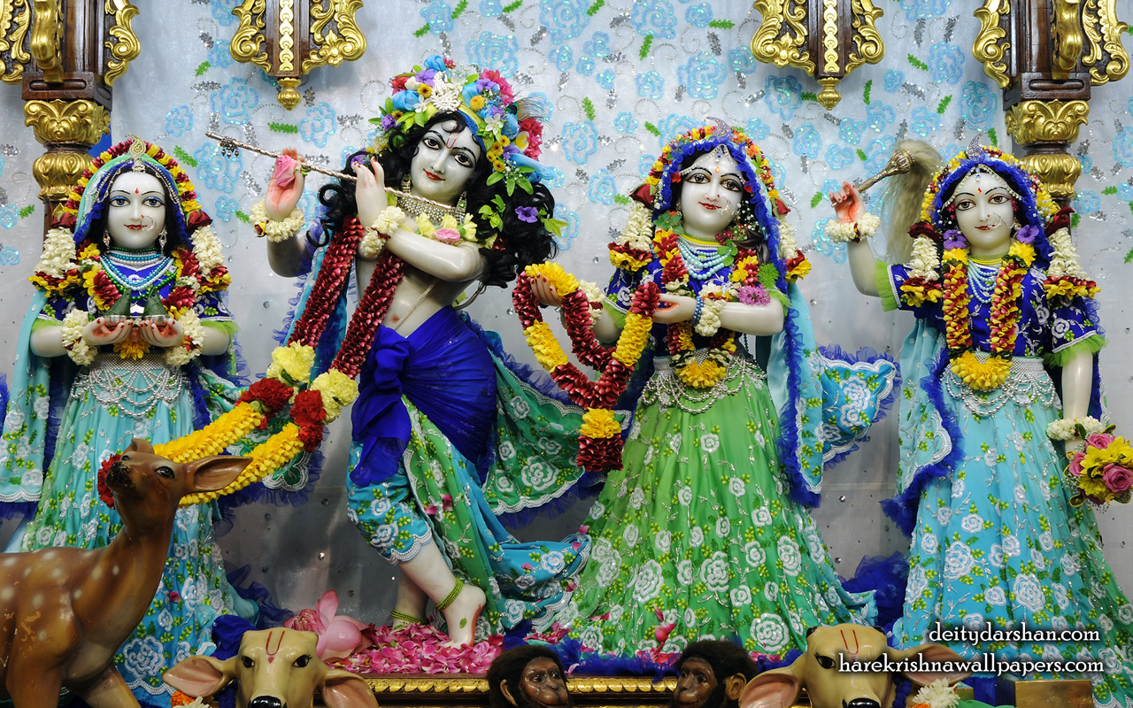 Sri Sri Radha Gopinath Lalita Vishakha Wallpaper (064) Size 1280x800 Download