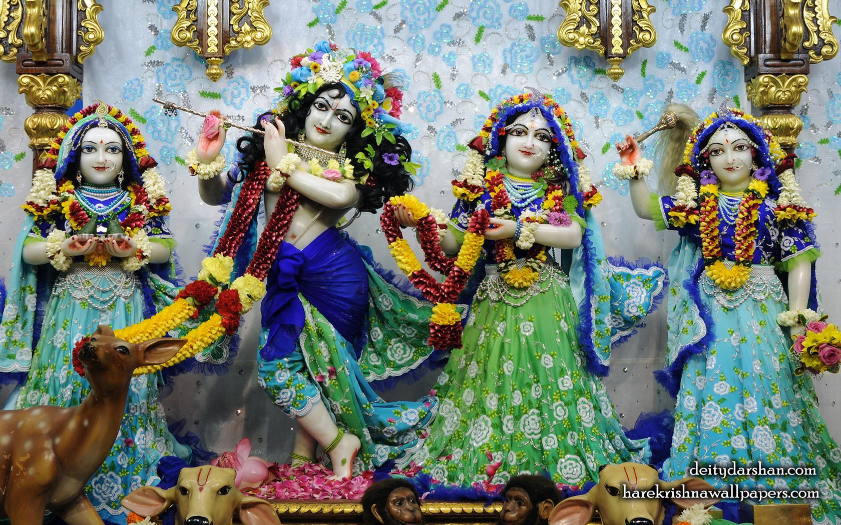 Sri Sri Radha Gopinath Lalita Vishakha Wallpaper (064) Size 1680x1050 Download