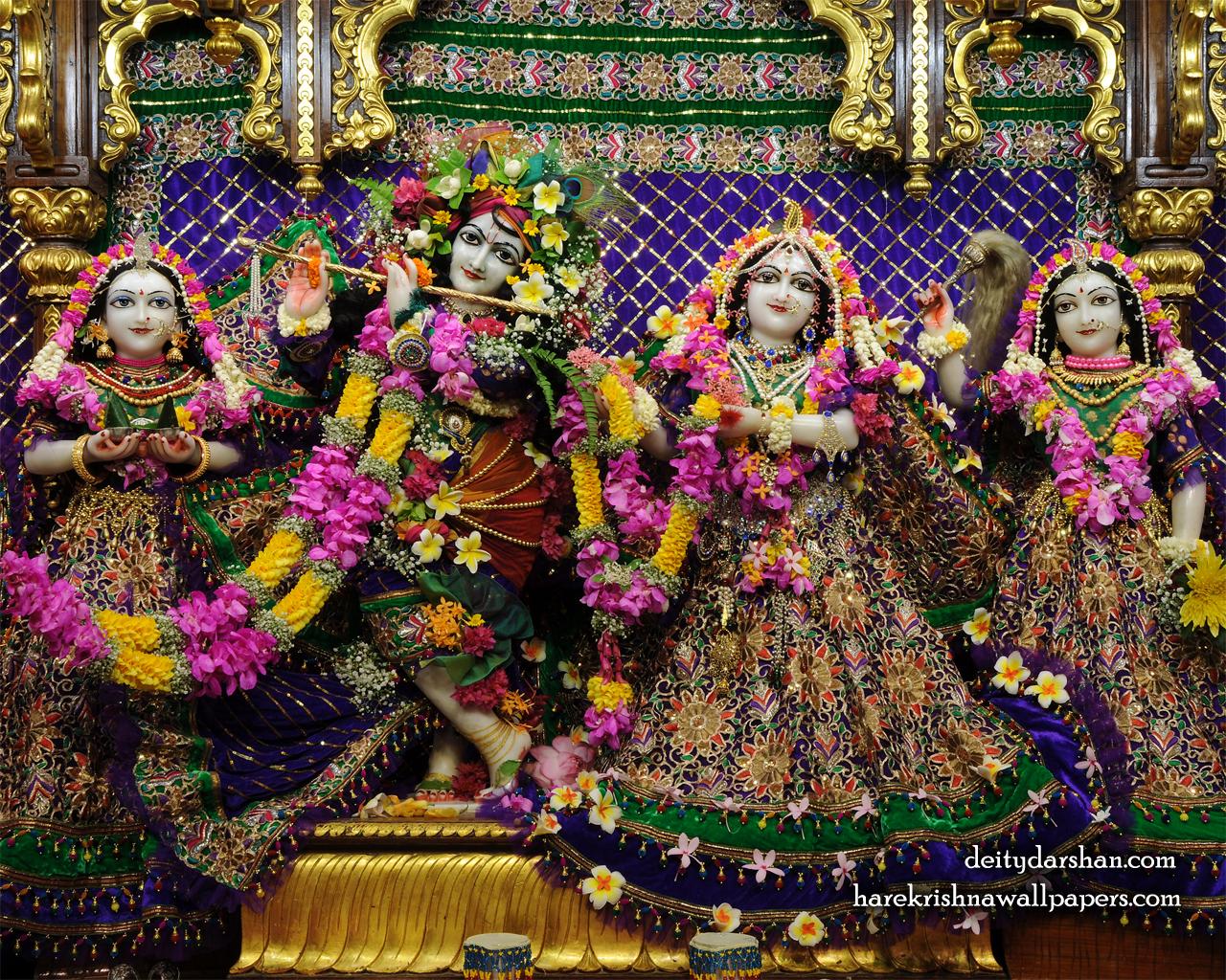 Sri Sri Radha Gopinath Lalita Vishakha Wallpaper (065) Size 1280x1024 Download