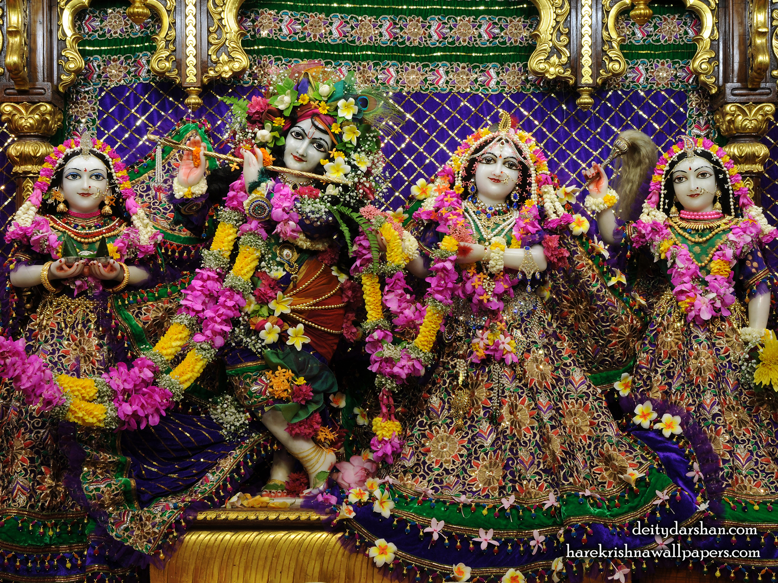 Sri Sri Radha Gopinath Lalita Vishakha Wallpaper (065) Size1600x1200 Download