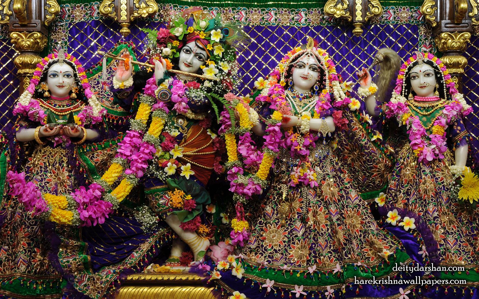 Sri Sri Radha Gopinath Lalita Vishakha Wallpaper (065) Size 1680x1050 Download