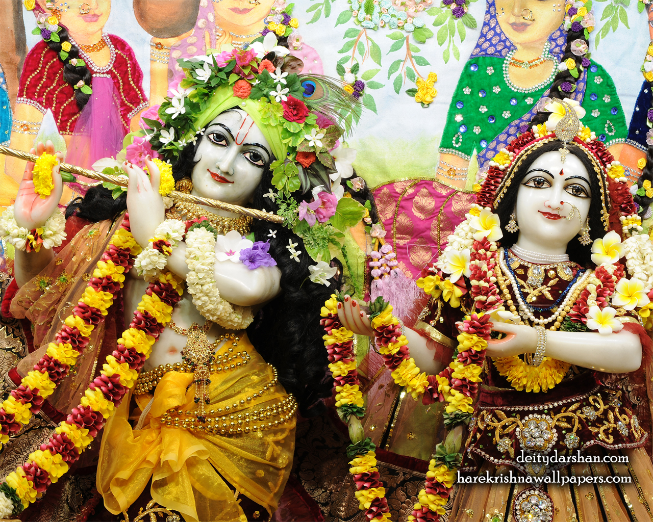 Sri Sri Radha Gopinath Close up Wallpaper (066) Size 1280x1024 Download