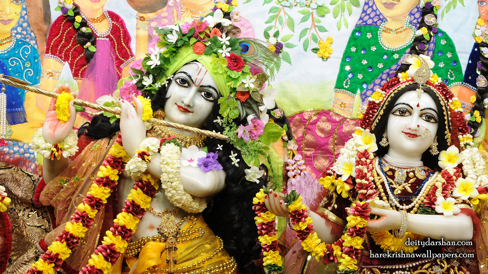 Sri Sri Radha Gopinath Close up Wallpaper (066) Size 1920x1080 Download