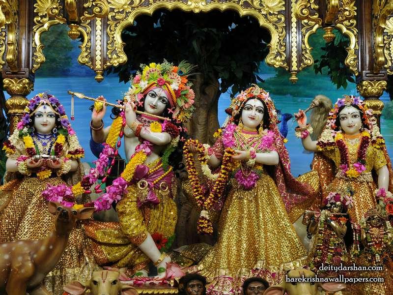 Sri Sri Radha Gopinath Lalita Vishakha Wallpaper (066)