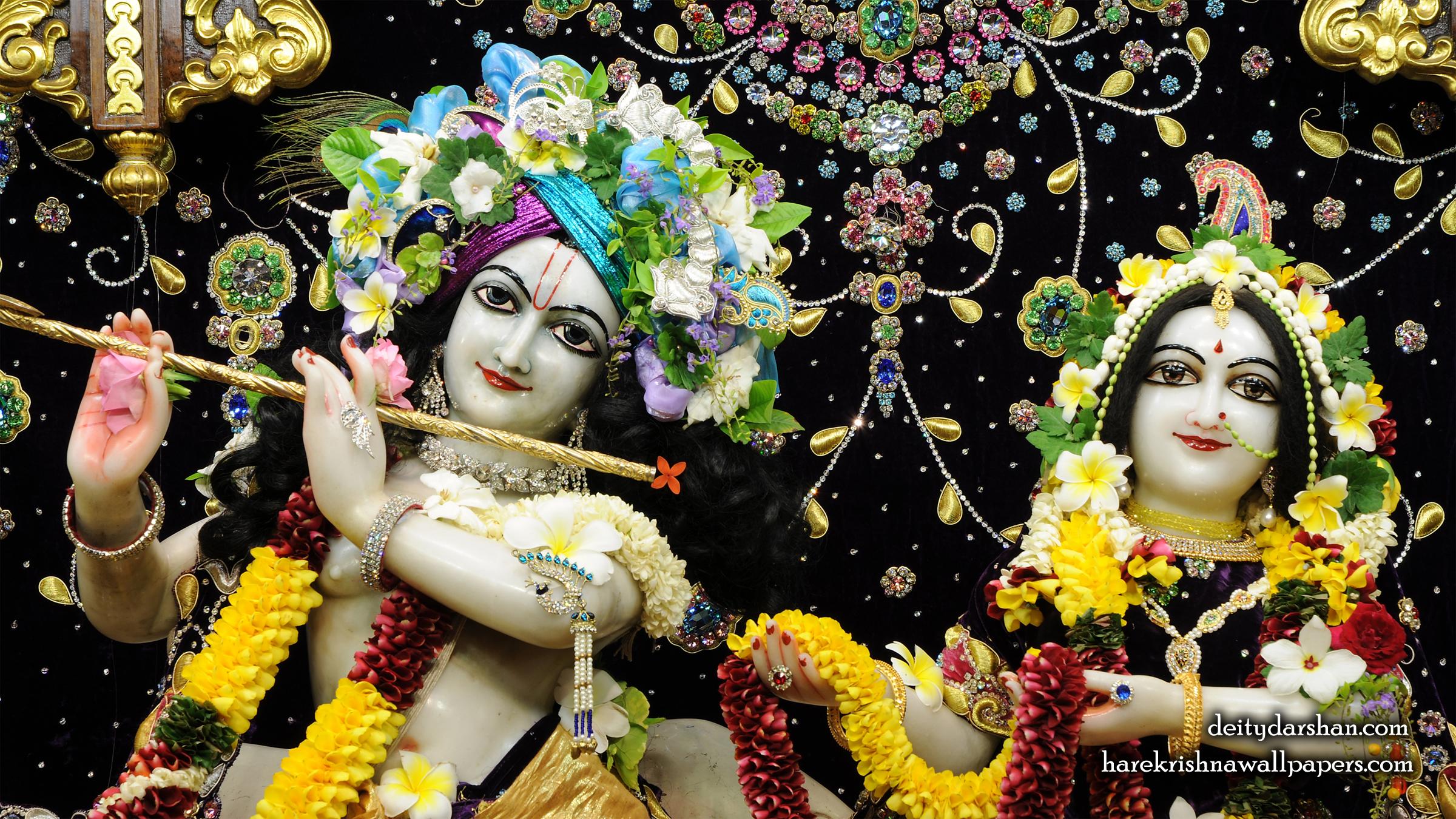 Sri Sri Radha Gopinath Close up Wallpaper (067) Size 2400x1350 Download