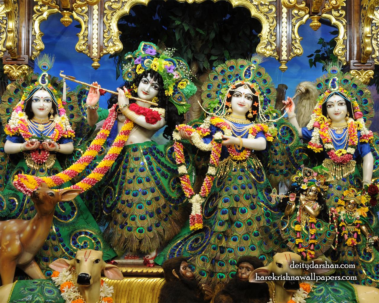 Sri Sri Radha Gopinath Lalita Vishakha Wallpaper (067) Size 1280x1024 Download