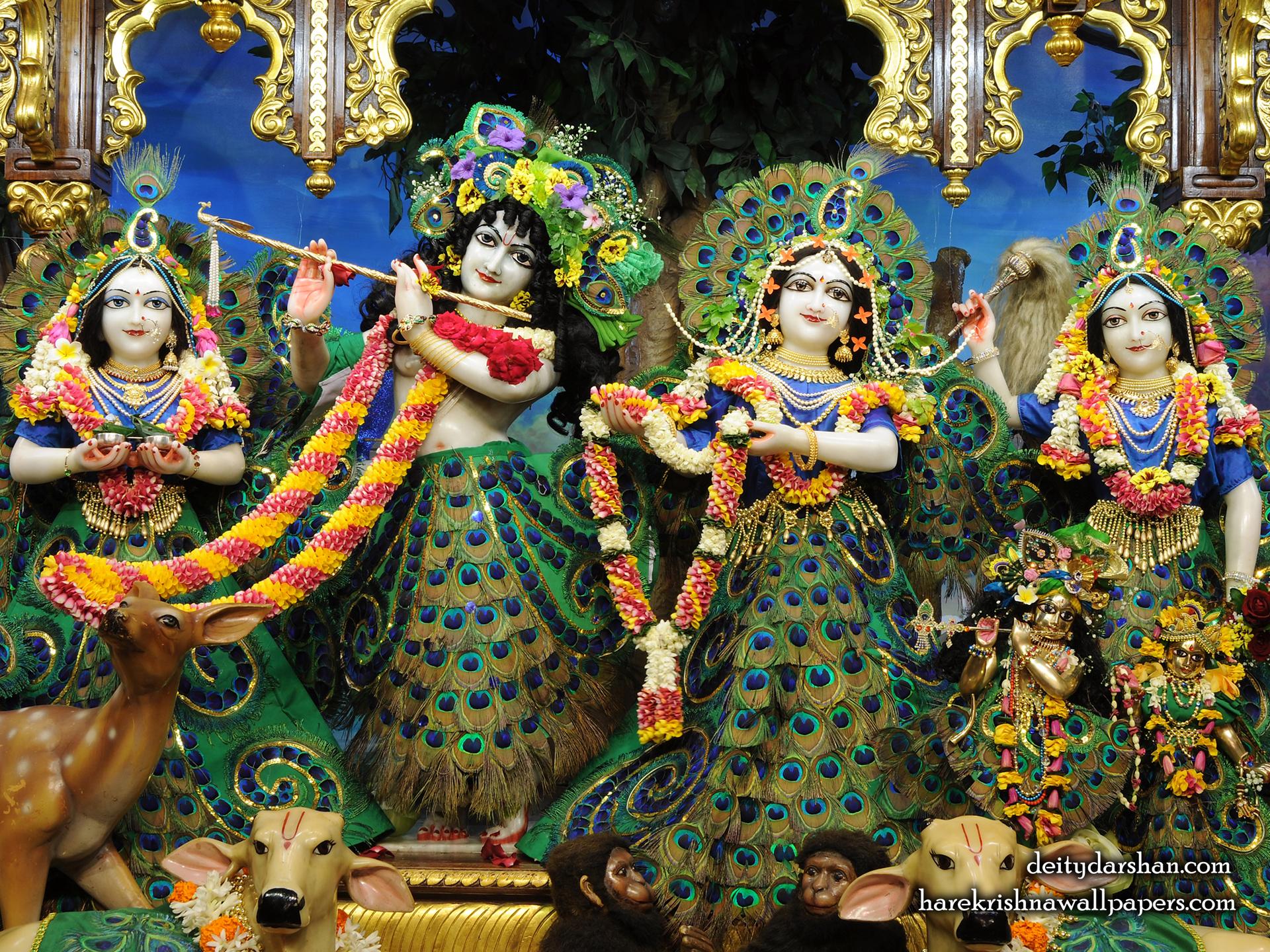 Sri Sri Radha Gopinath Lalita Vishakha Wallpaper (067) Size 1920x1440 Download