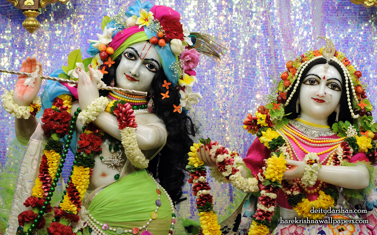 Sri Sri Radha Gopinath Close up Wallpaper (068) Size 1440x900 Download