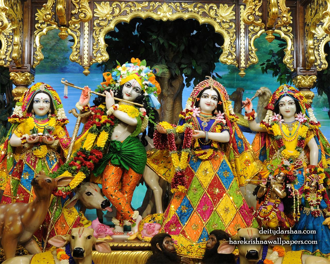 Sri Sri Radha Gopinath Lalita Vishakha Wallpaper (068) Size 1280x1024 Download