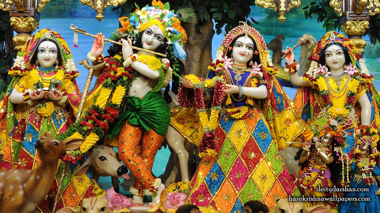 Sri Sri Radha Gopinath Lalita Vishakha Wallpaper (068) Size 1600x900 Download