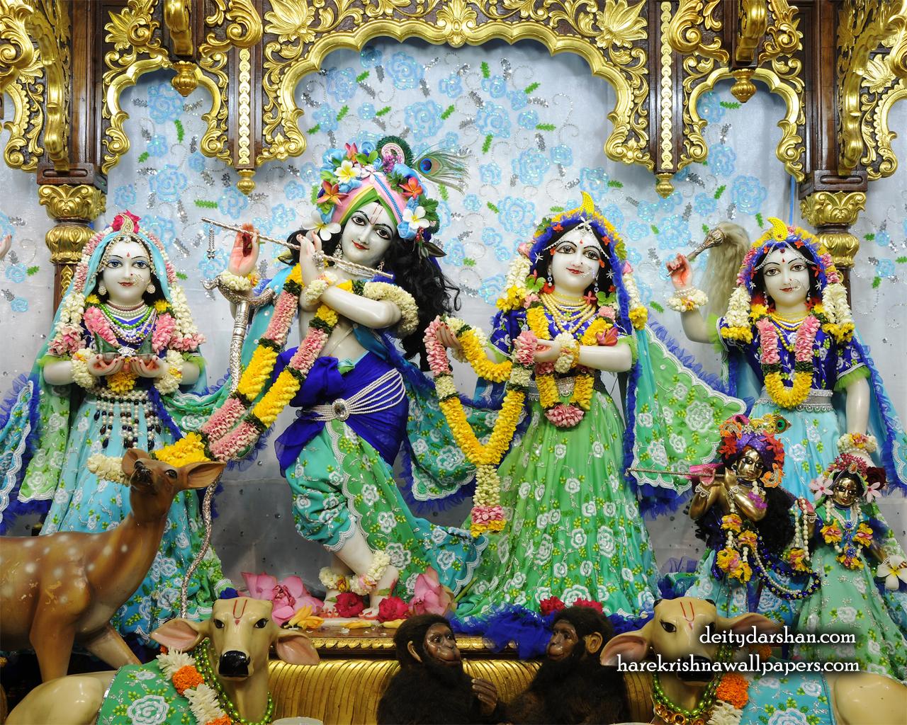 Sri Sri Radha Gopinath Lalita Vishakha Wallpaper (069) Size 1280x1024 Download