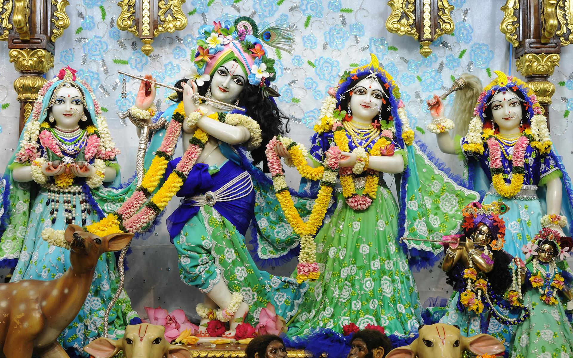 Sri Sri Radha Gopinath Lalita Vishakha Wallpaper (069) Size 1920x1200 Download