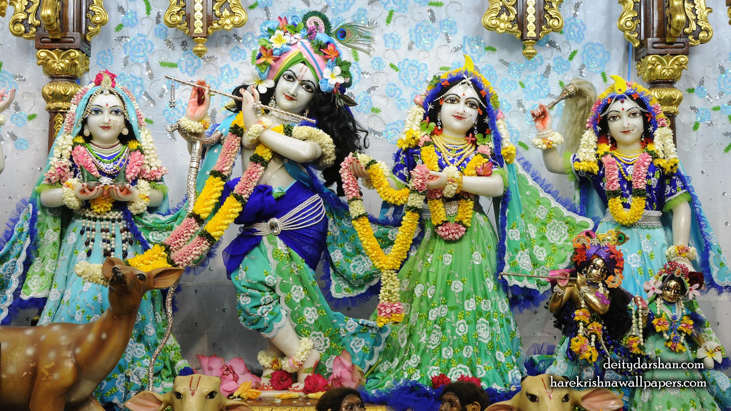 Sri Sri Radha Gopinath Lalita Vishakha Wallpaper (069) Size 2400x1350 Download