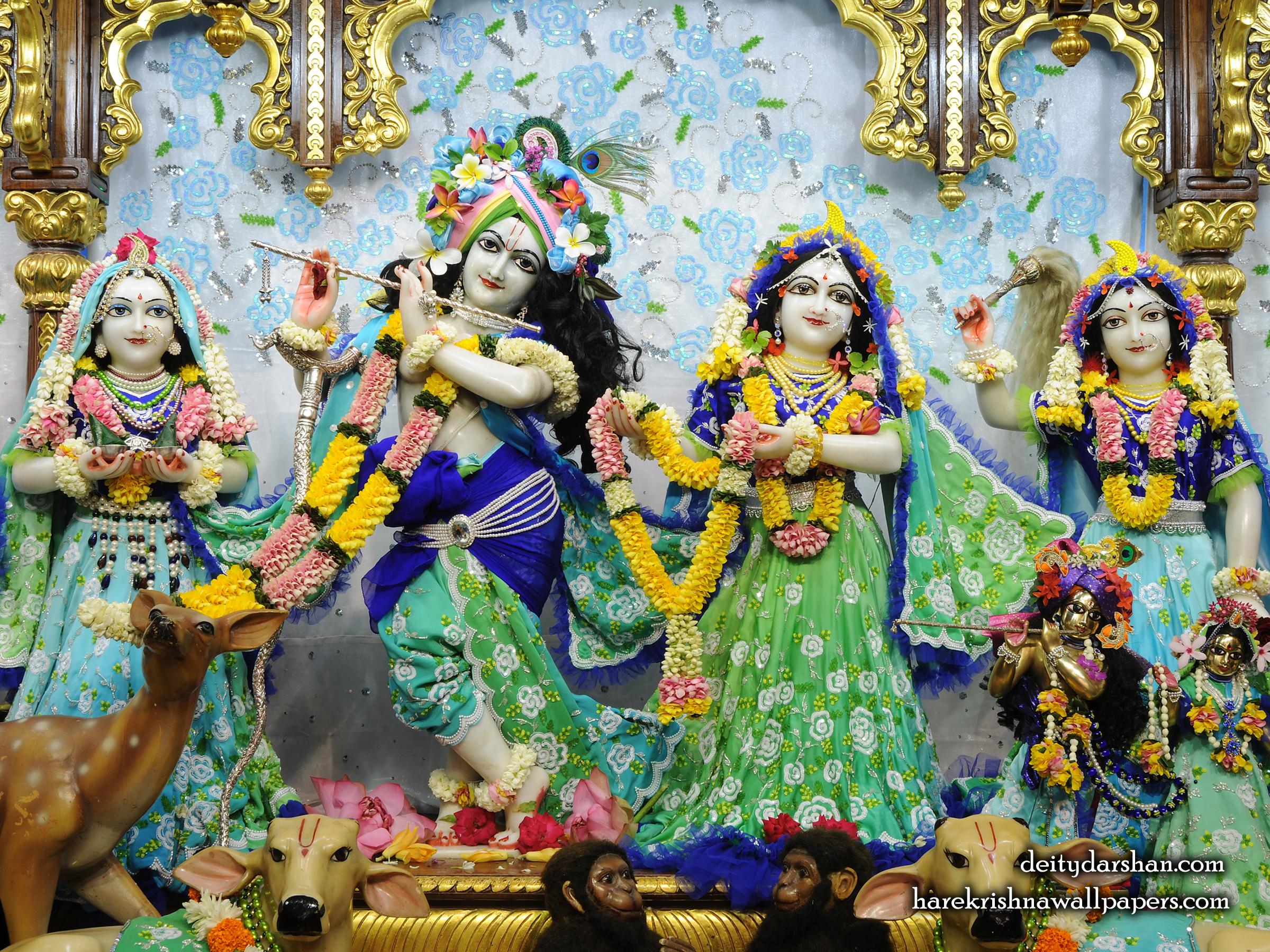 Sri Sri Radha Gopinath Lalita Vishakha Wallpaper (069) Size 2400x1800 Download