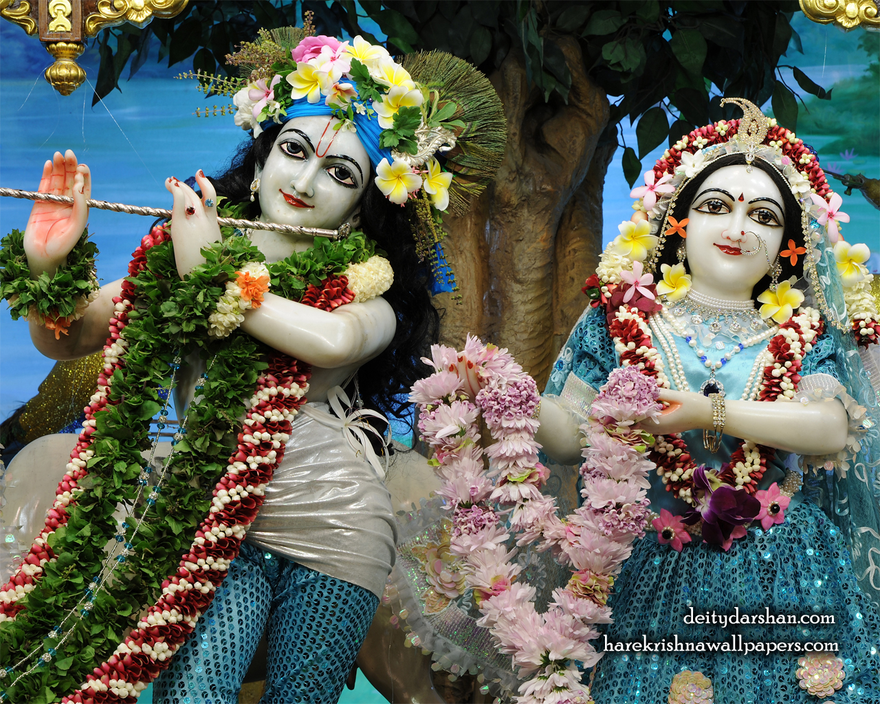 Sri Sri Radha Gopinath Close up Wallpaper (070) Size 1280x1024 Download