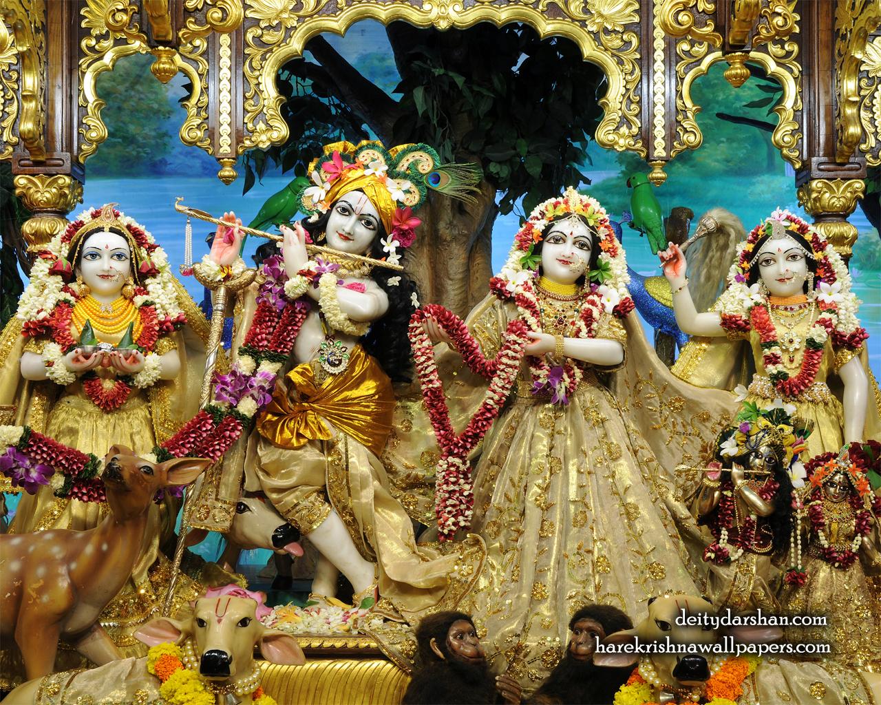 Sri Sri Radha Gopinath Lalita Vishakha Wallpaper (070) Size 1280x1024 Download