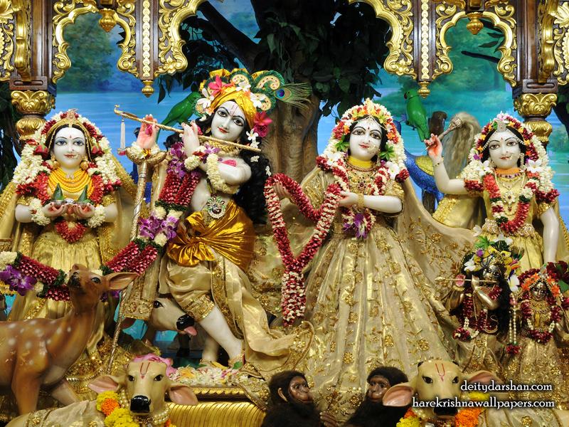 Sri Sri Radha Gopinath Lalita Vishakha Wallpaper (070) Size 800x600 Download