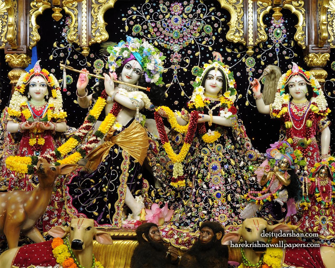Sri Sri Radha Gopinath Lalita Vishakha Wallpaper (071) Size 1280x1024 Download