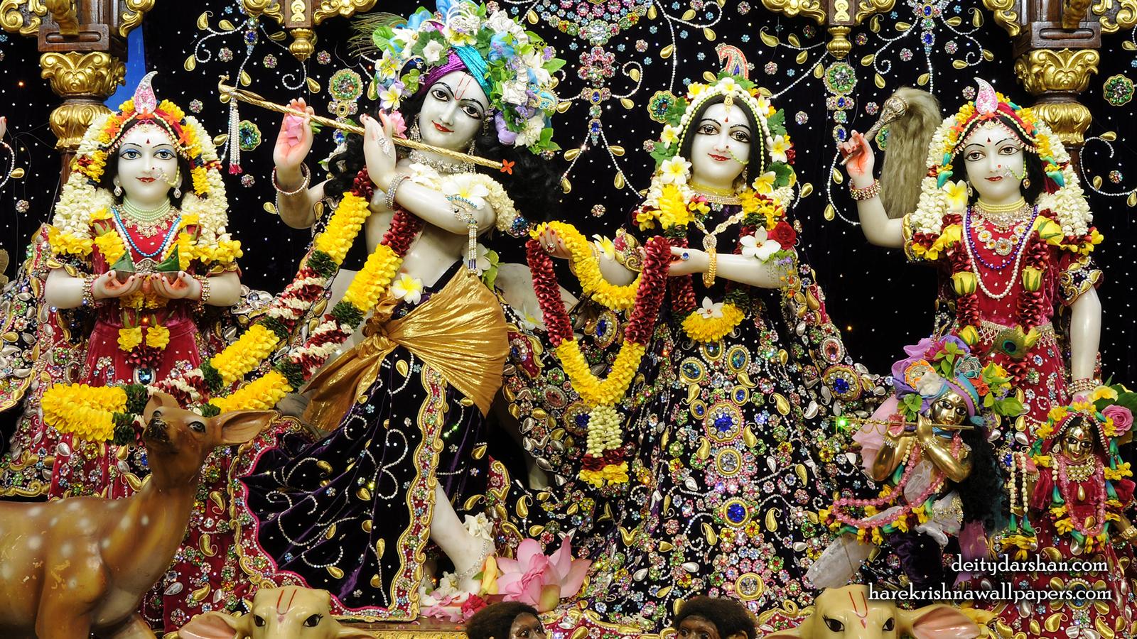 Sri Sri Radha Gopinath Lalita Vishakha Wallpaper (071) Size 1600x900 Download