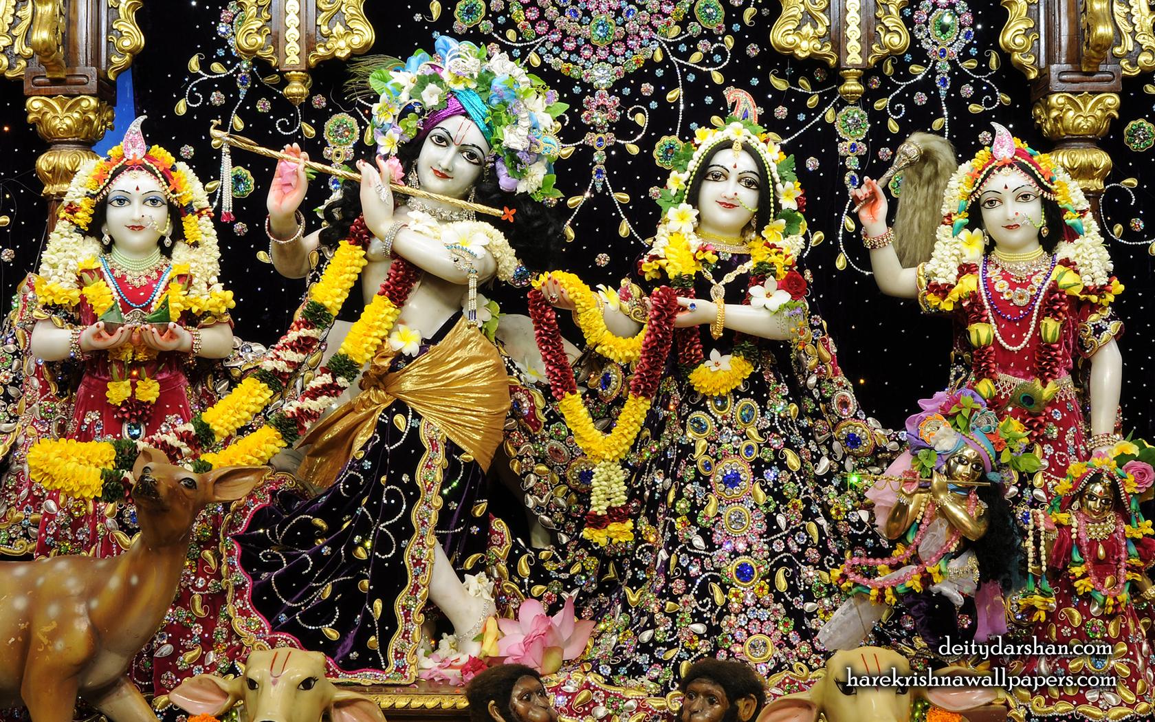 Sri Sri Radha Gopinath Lalita Vishakha Wallpaper (071) Size 1680x1050 Download