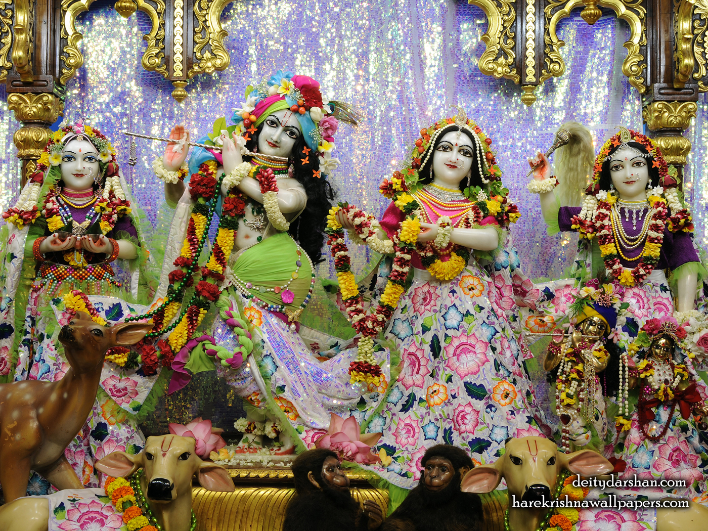 Sri Sri Radha Gopinath Lalita Vishakha Wallpaper (072) Size 1400x1050 Download