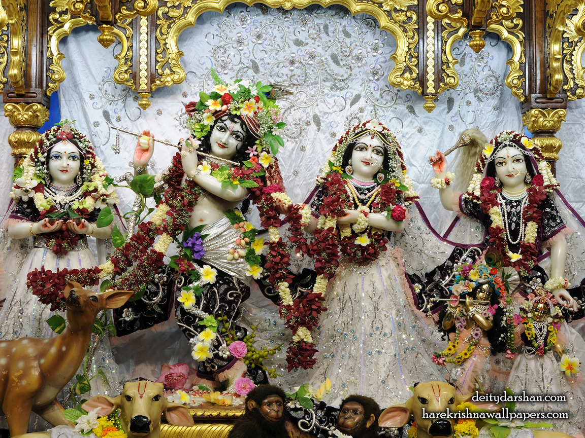 Sri Sri Radha Gopinath Lalita Vishakha Wallpaper (073) Size 1152x864 Download