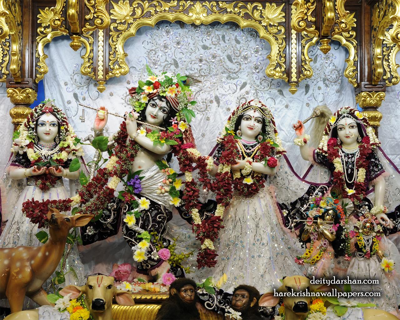 Sri Sri Radha Gopinath Lalita Vishakha Wallpaper (073) Size 1280x1024 Download