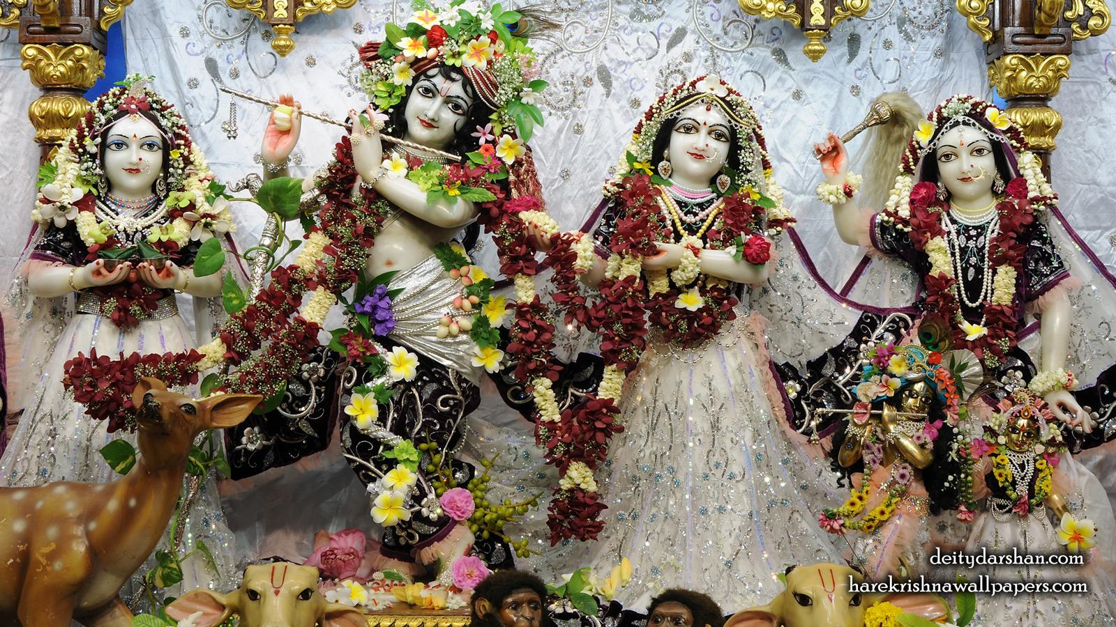 Sri Sri Radha Gopinath Lalita Vishakha Wallpaper (073) Size 1600x900 Download
