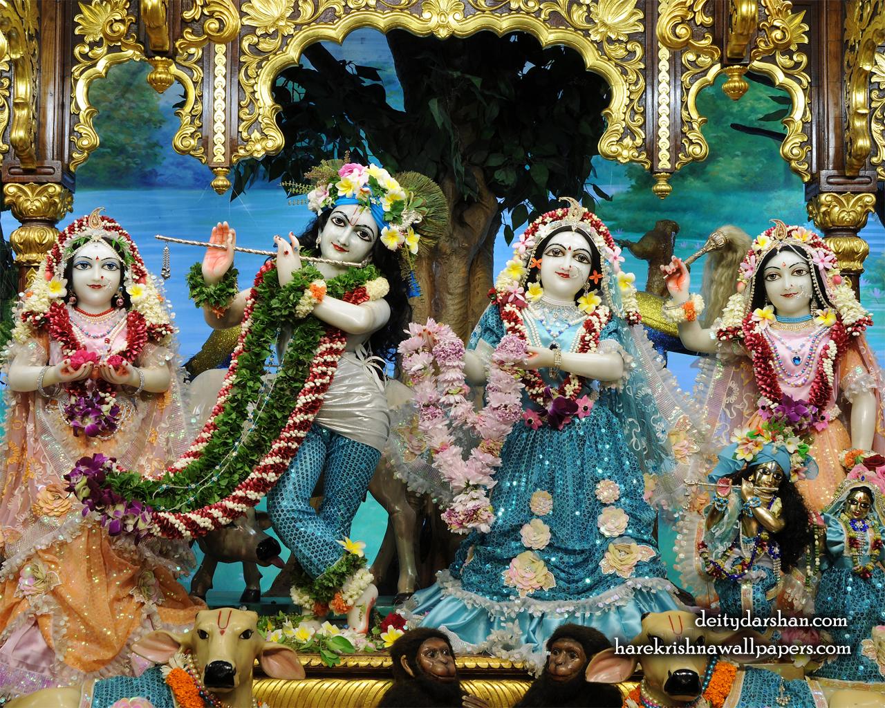 Sri Sri Radha Gopinath Lalita Vishakha Wallpaper (074) Size 1280x1024 Download