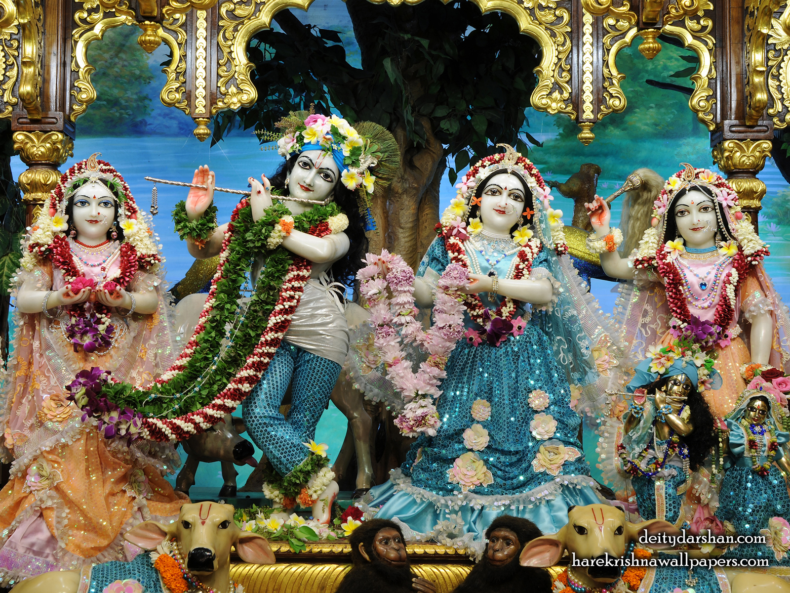 Sri Sri Radha Gopinath Lalita Vishakha Wallpaper (074) Size1600x1200 Download