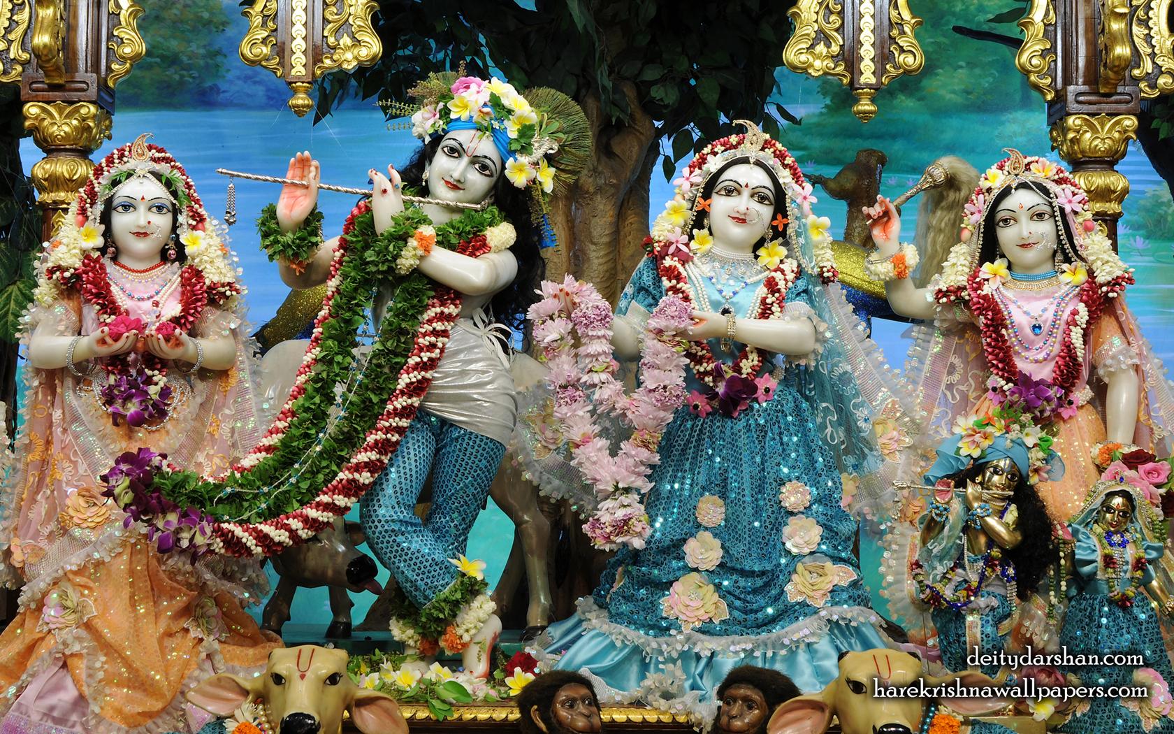 Sri Sri Radha Gopinath Lalita Vishakha Wallpaper (074) Size 1680x1050 Download