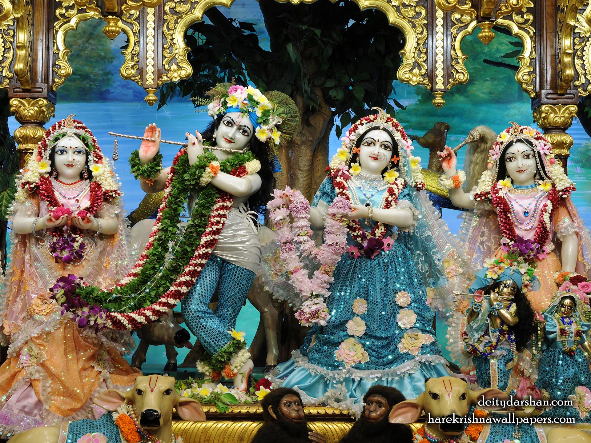 Sri Sri Radha Gopinath Lalita Vishakha Wallpaper (074) Size 1920x1440 Download