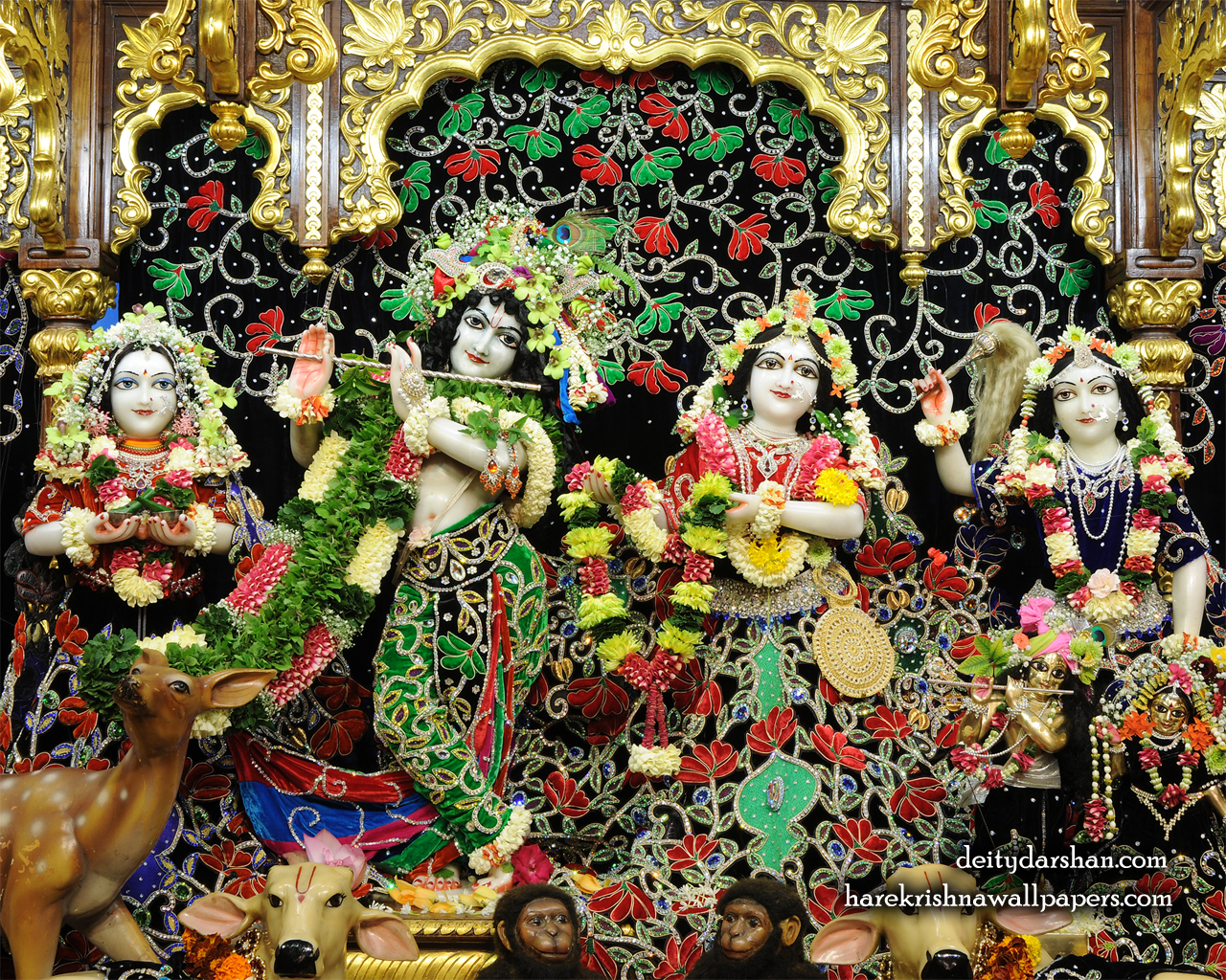 Sri Sri Radha Gopinath Lalita Vishakha Wallpaper (075) Size 1280x1024 Download