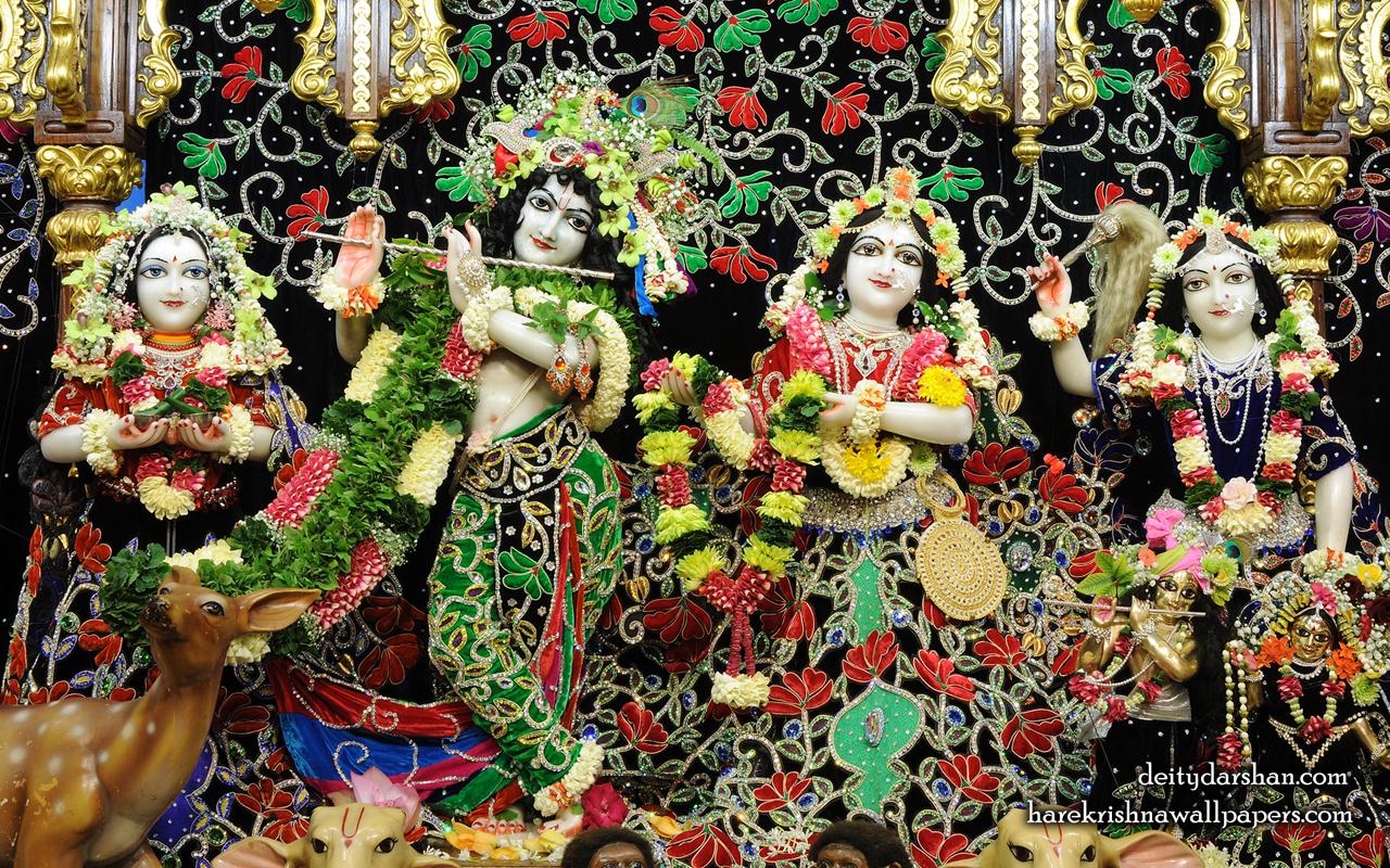 Sri Sri Radha Gopinath Lalita Vishakha Wallpaper (075) Size 1280x800 Download