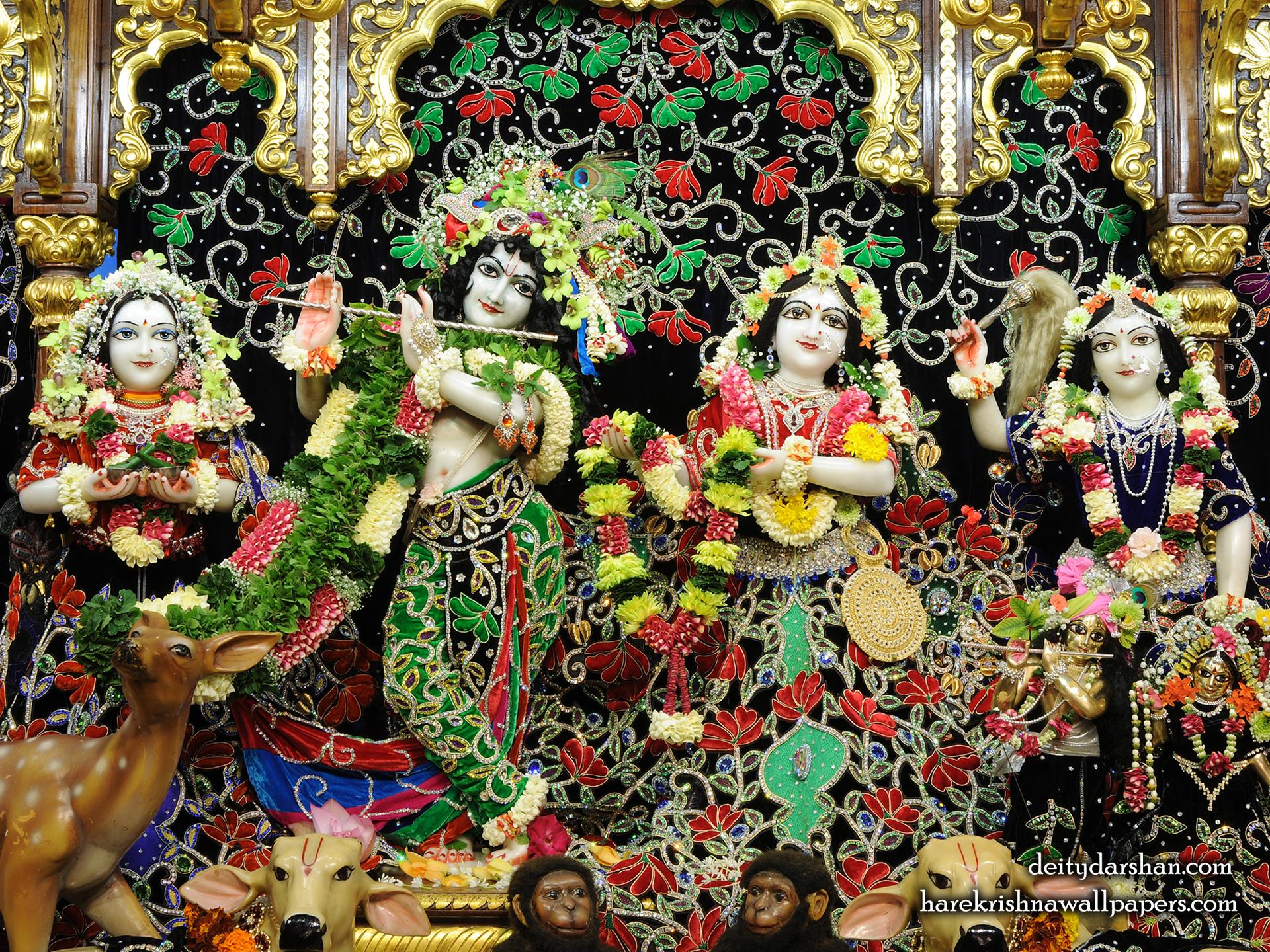 Sri Sri Radha Gopinath Lalita Vishakha Wallpaper (075) Size 1920x1440 Download