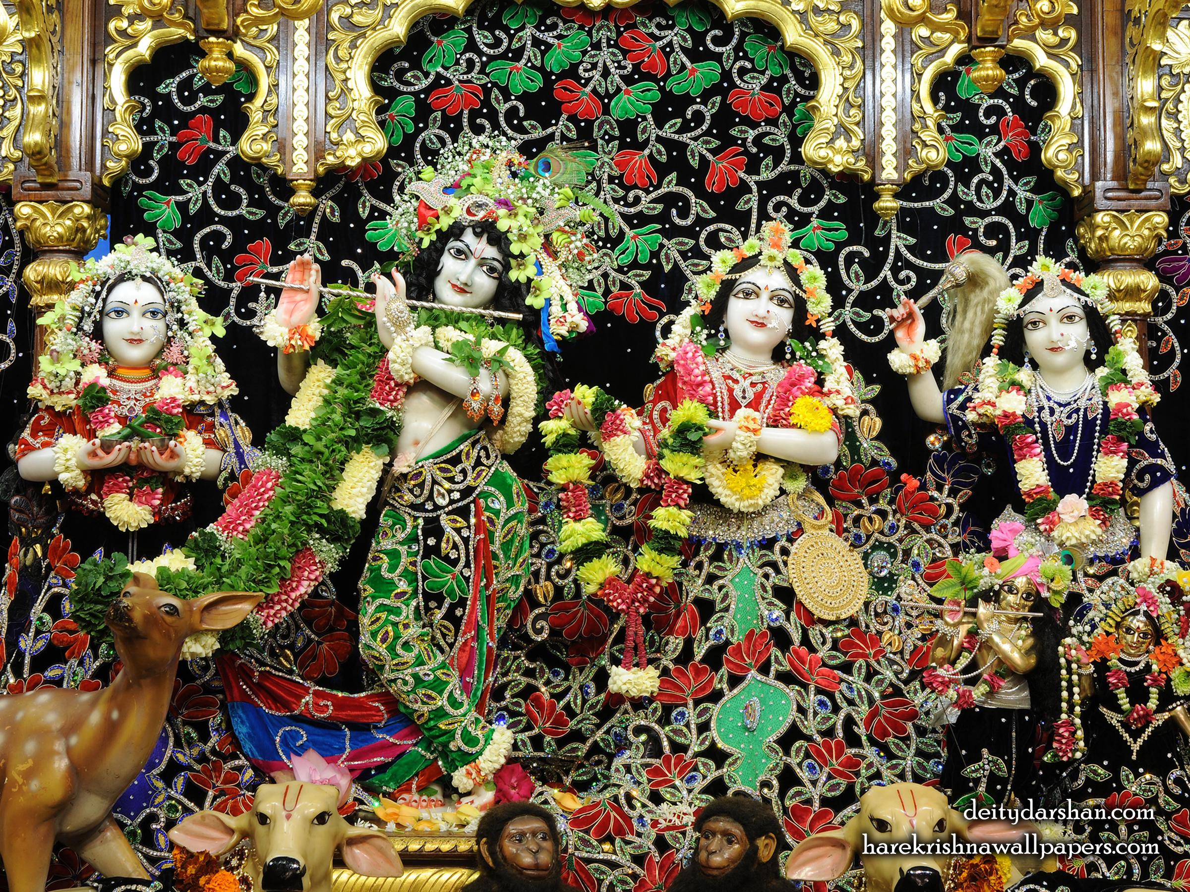 Sri Sri Radha Gopinath Lalita Vishakha Wallpaper (075) Size 2400x1800 Download