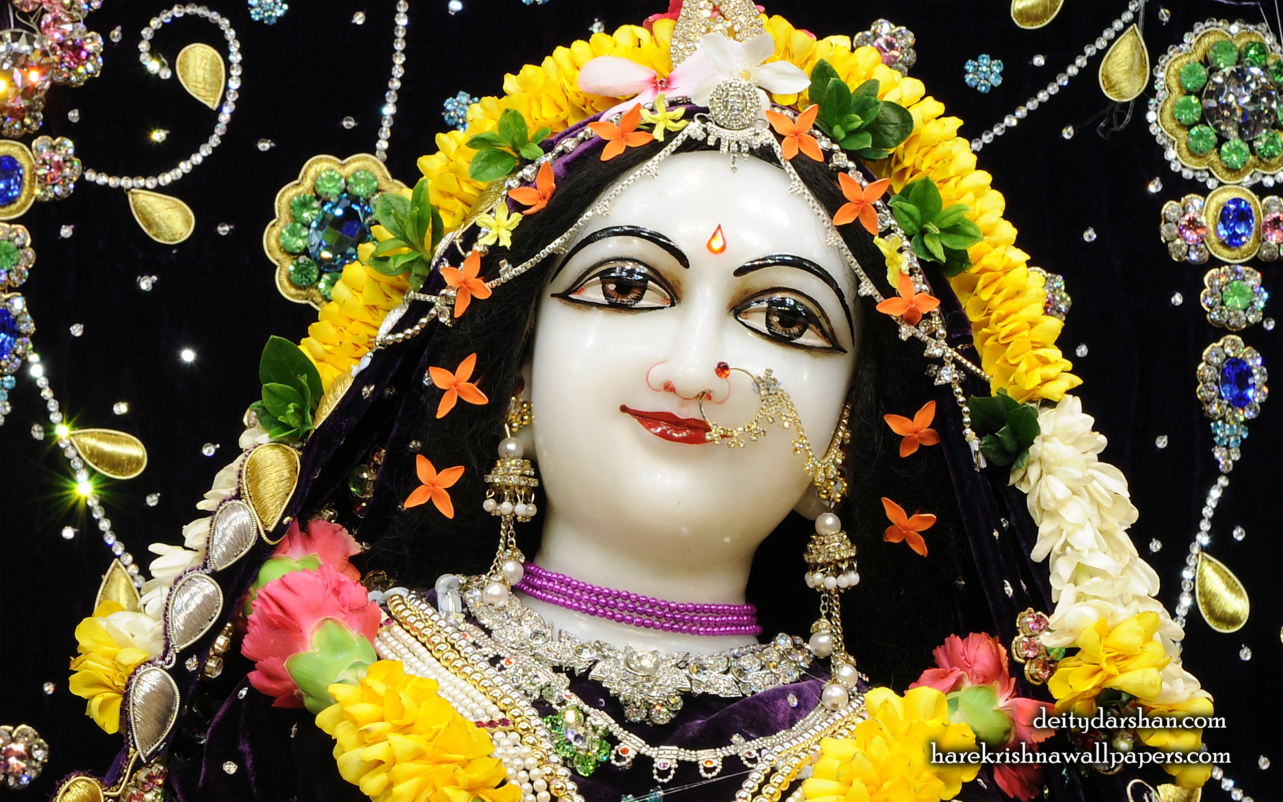 Srimati Radharani Close up Wallpaper (090) Size 2560x1600 Download