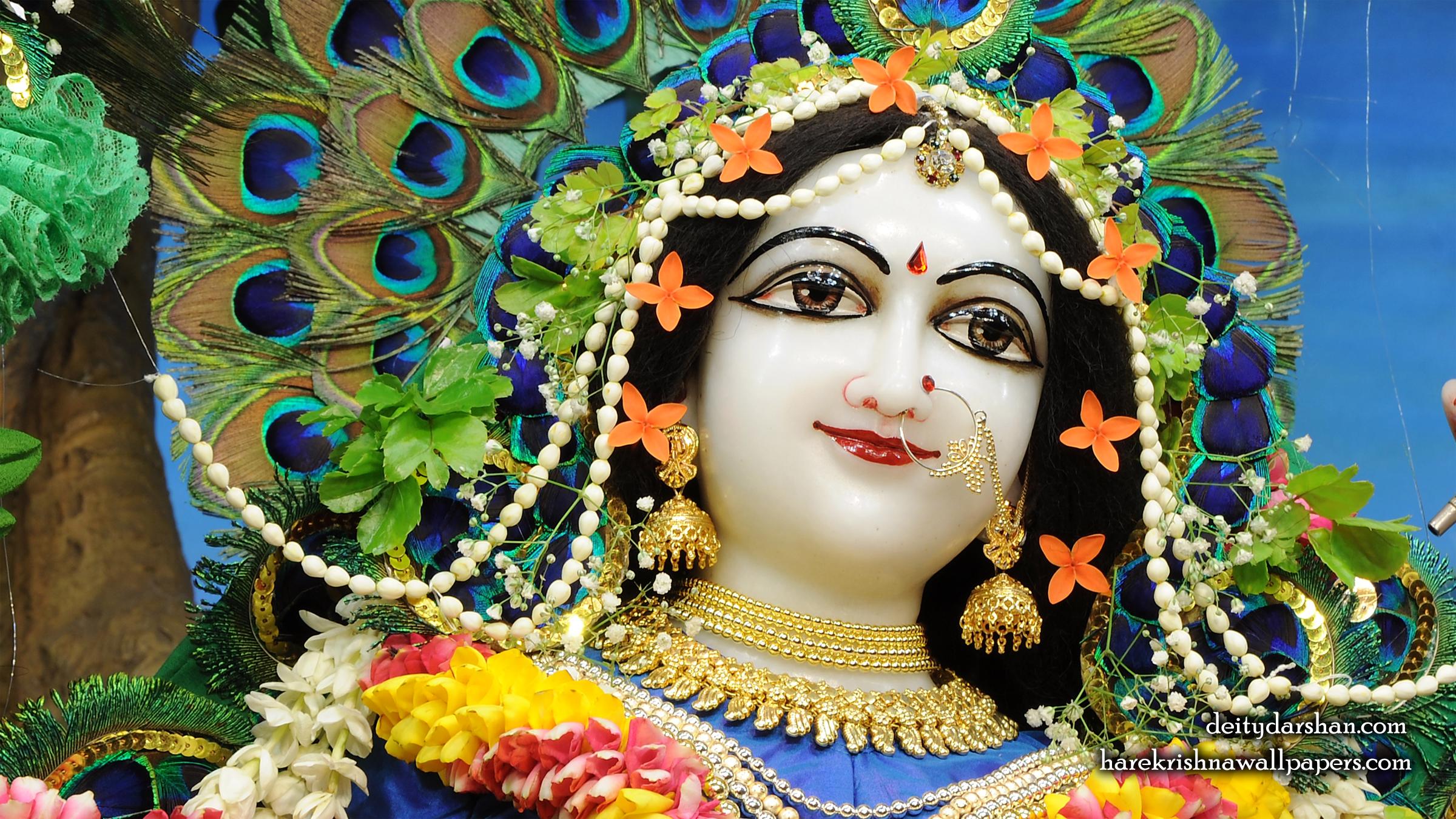 Srimati Radharani Close up Wallpaper (095) Size 2400x1350 Download