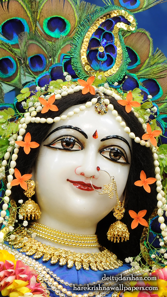 Srimati Radharani Close up Wallpaper (095) Size 675x1200 Download