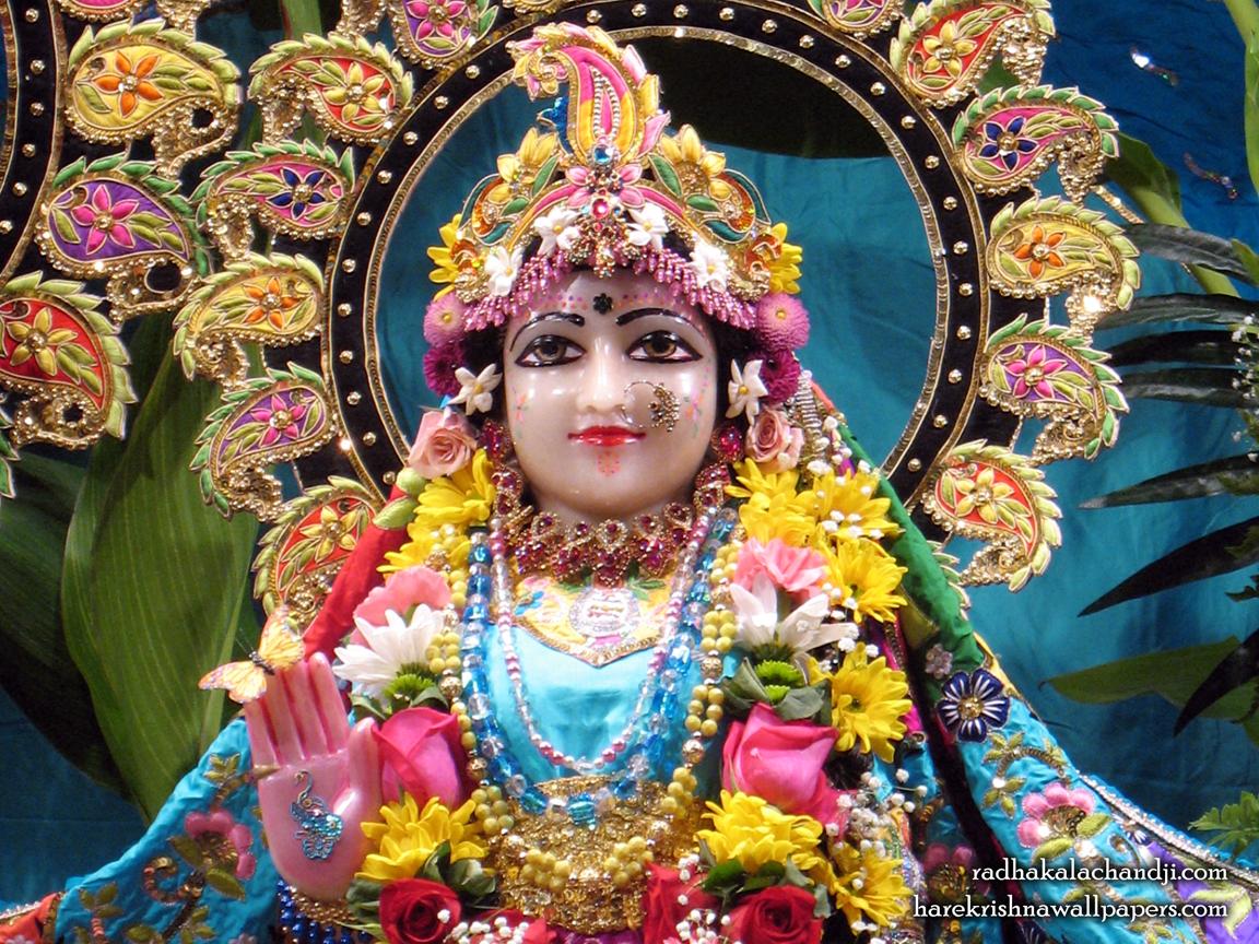 Sri Radha Close up Wallpaper (001) Size 1152x864 Download
