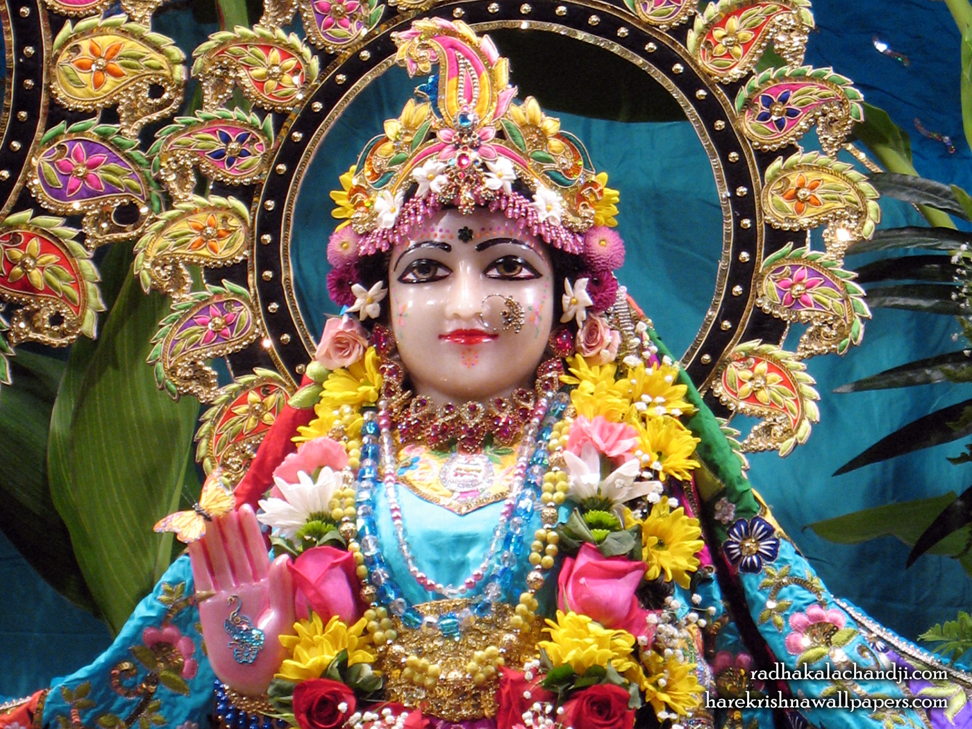 Sri Radha Close up Wallpaper (001) Size 1400x1050 Download