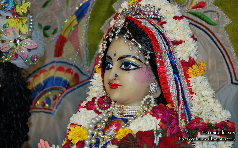 Sri Radha Close up Wallpaper (001) Size 1440x900 Download