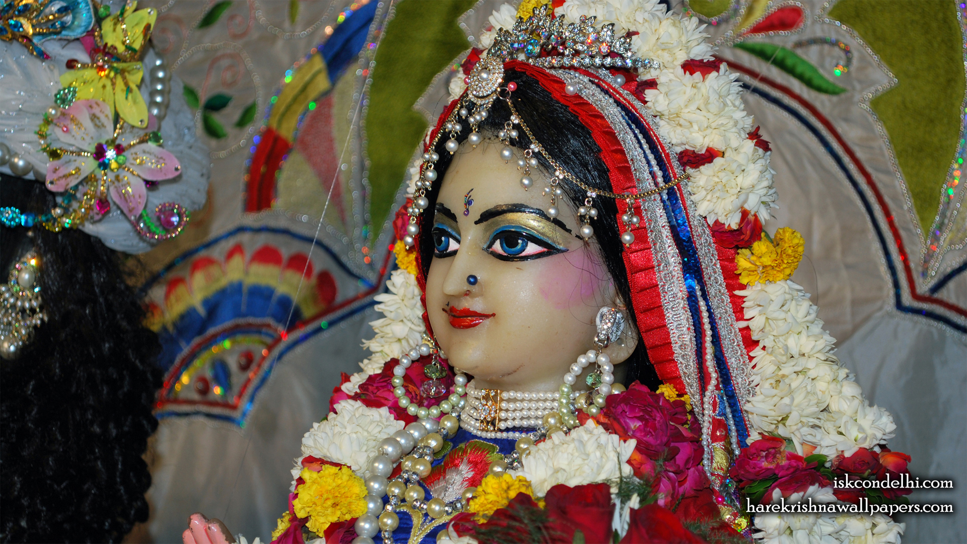 Sri Radha Close up Wallpaper (001) Size 1920x1080 Download