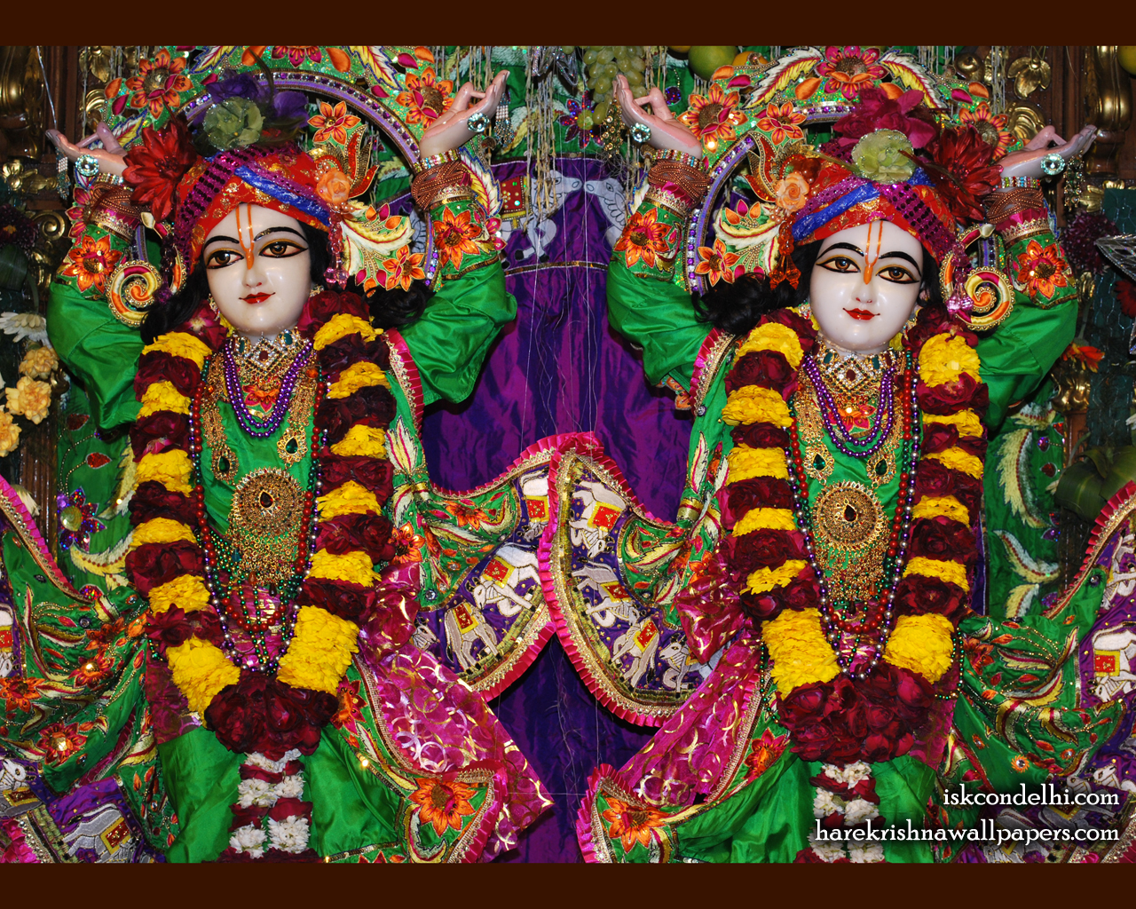 Sri Sri Gaura Nitai Close up Wallpaper (001) Size 1280x1024 Download