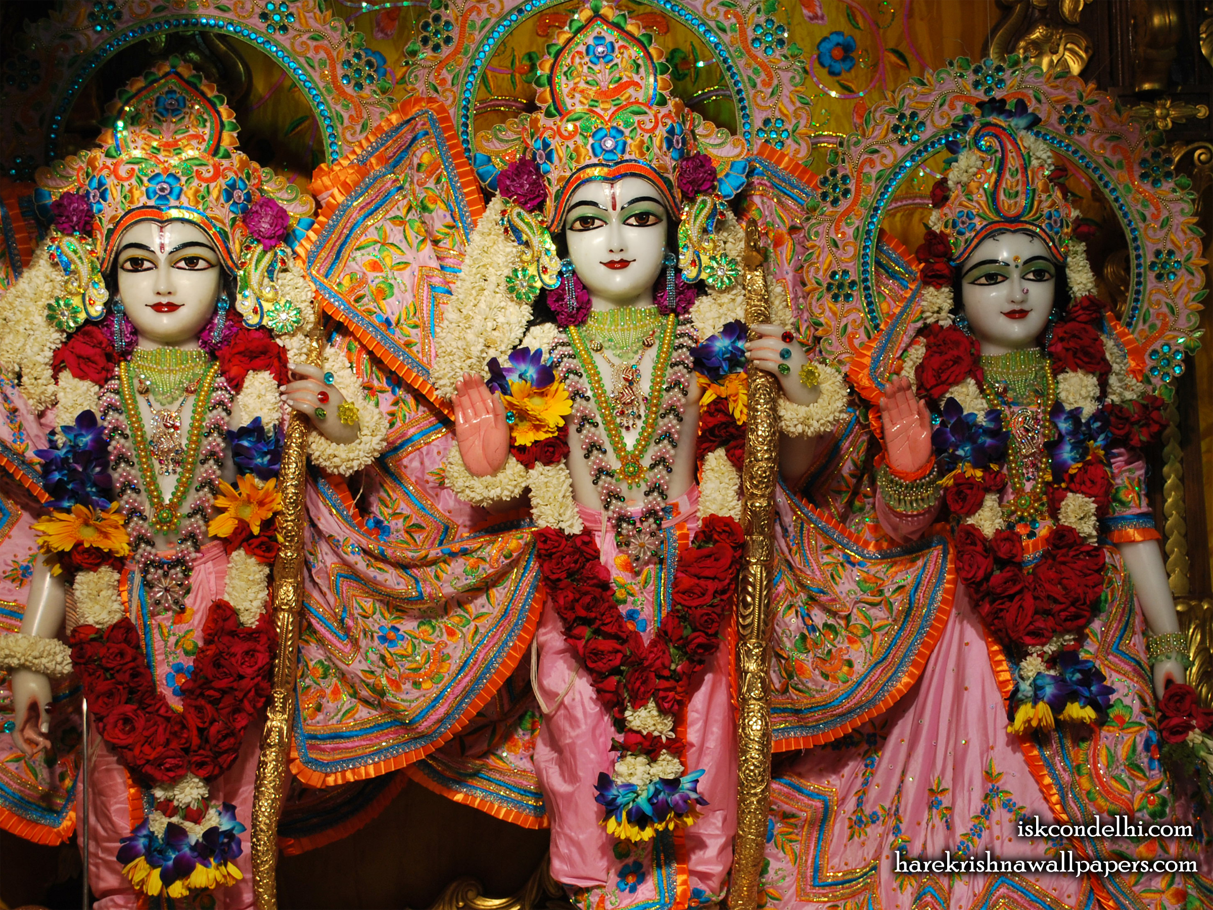 Sri Sri Sita Rama Laxman Wallpaper (001) Size 2400x1800 Download