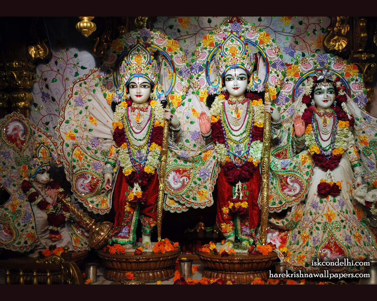Sri Sri Sita Rama Laxman Hanuman Wallpaper (001) Size 1280x1024 Download