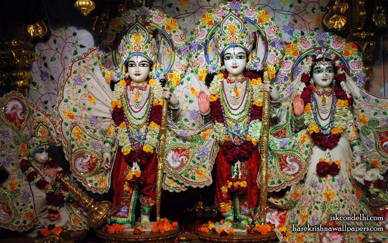 Sri Sri Sita Rama Laxman Hanuman Wallpaper (001) Size 1280x800 Download