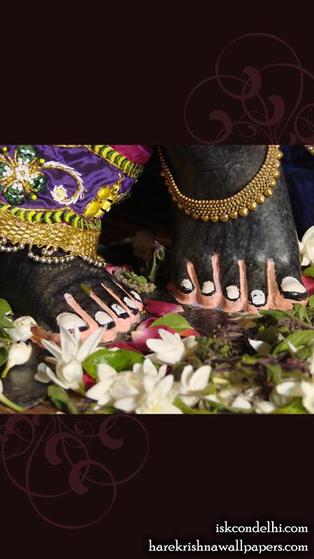 Sri Parthasarathi Feet Wallpaper (002) Size 450x800 Download