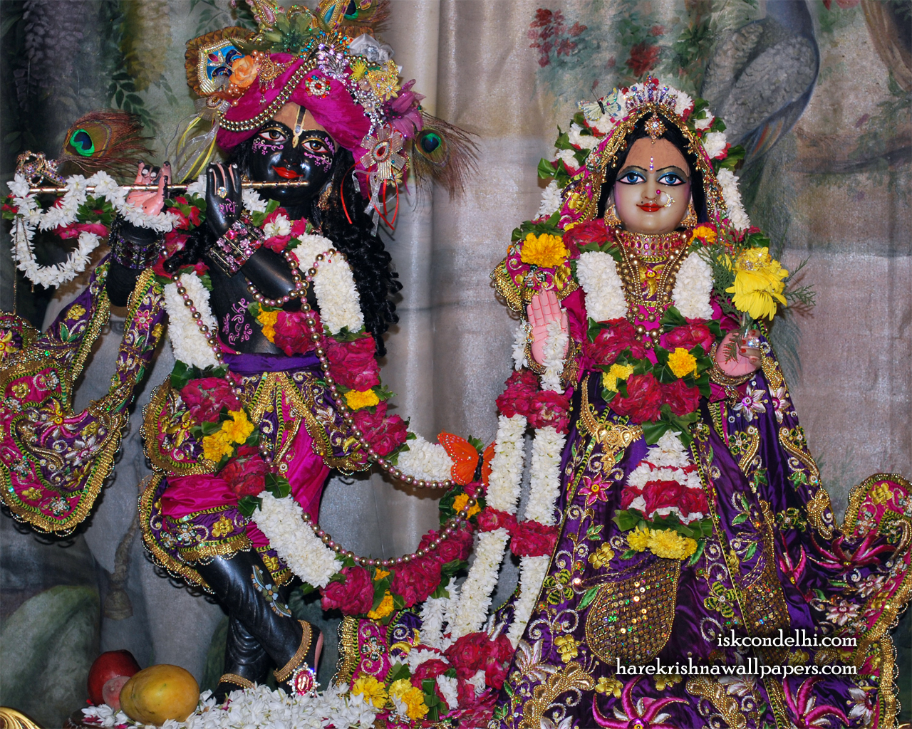 Sri Sri Radha Parthasarathi Wallpaper (002) Size 1280x1024 Download